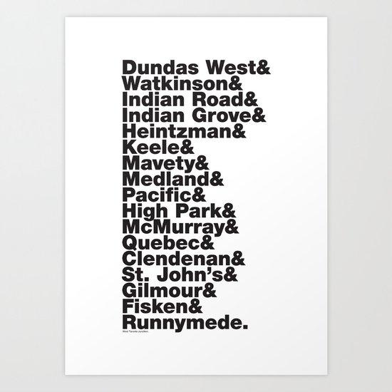 Junction& Art Print