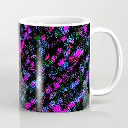 Colorful Fuchsia Purple Blue Spray Paint Coffee Mug