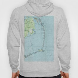 Vintage Southern Outer Banks Map (1957) Hoody