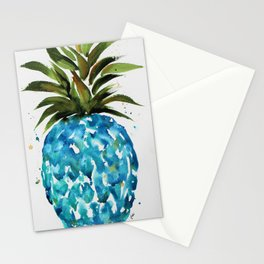 Blue Pineapple Stationery Cards