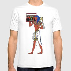 Rock Like an Egyptian Mens Fitted Tee MEDIUM White