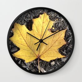 Lone Leaf Wall Clock