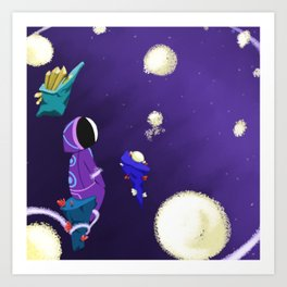 In Space with Magic Art Print