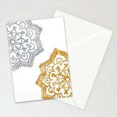 Gold and silver lace floral Stationery Cards