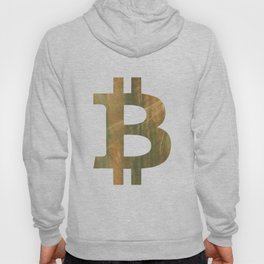 Bitcoin Brown green colored watercolor pattern Hoody