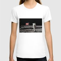 british flag T-shirts featuring British Flag on the Moon by Dan Levin's Objects of Curiosity