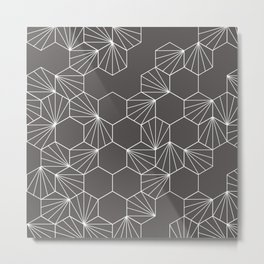 Hexagonal tiles pattern Metal Print