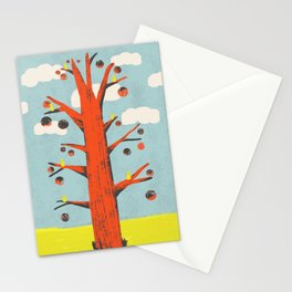 Red Tree, Yellow Birds Stationery Cards