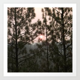 Smoky Sunrise from the Carr Fire 2018 Art Print