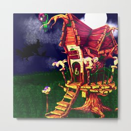 litle witch Metal Print
