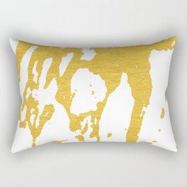Gold Abstract I Rectangular Pillow
