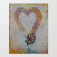 snail Canvas Prints featuring Snail by Michael Creese
