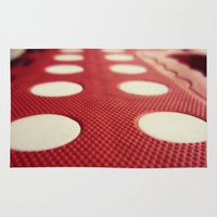 polka dot Area & Throw Rugs featuring Polka dot by Losal Jsk