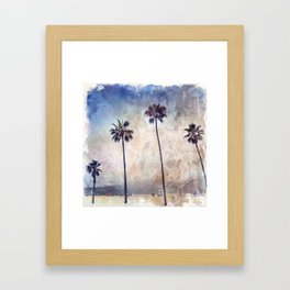 Palm Trees Watercolor Framed Art Print