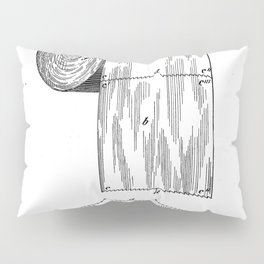 Toilet Paper Patent - Bathroom Art - Black And White Pillow Sham
