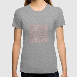 Cute hearts pattern T-shirt