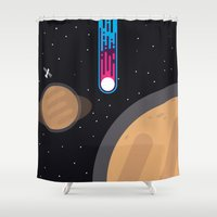wwe Shower Curtains featuring Meteor by eARTh
