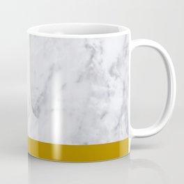 Marble Mustard yellow Color block Coffee Mug