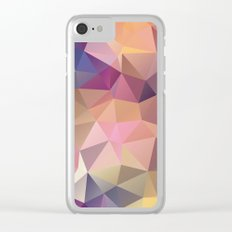 Abstract of triangles polygon in multicolor Clear iPhone Case
