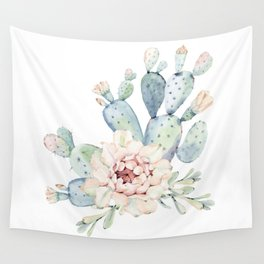 Perfect Cacti Rose Wall Tapestry