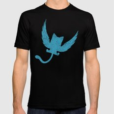 A Small Exceed of Fairy Tail Anime - Blue Happy Mens Fitted Tee Black MEDIUM