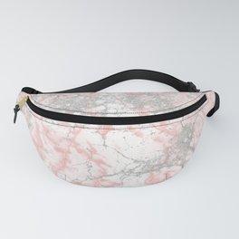 Modern blush pink gray stylish marble Fanny Pack