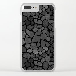Stone wall 1 Clear iPhone Case