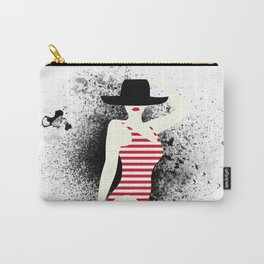 red lips always lie Carry-All Pouch