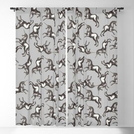 I Love Unicorns Blackout Curtain