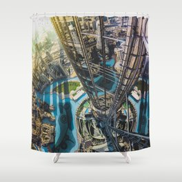 Dubai from the tallest building in the world Shower Curtain