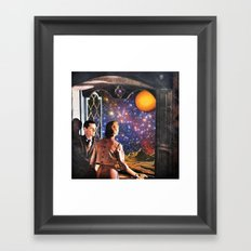Wolves Are Silent But the Moon Howls Framed Art Print