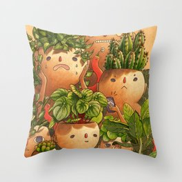 Plant-minded Throw Pillow