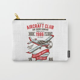 Born to Fly - Aircraft Club T-Shirt Carry-All Pouch