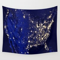 america Wall Tapestries featuring America by 2sweet4words Designs