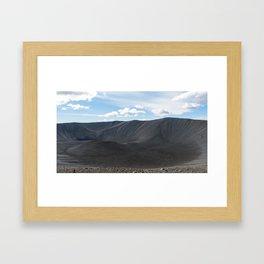 Hverfjall volcanic crater in Iceland Framed Art Print
