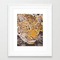 leopard Framed Art Prints featuring Leopard by stevesart