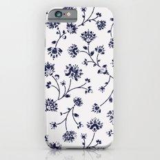 Indigo Floral Trail (reversed) iPhone 6s Slim Case