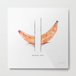 Banana Split with a Tint of Orange Metal Print