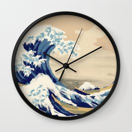 The Great Wave - Oil Painting Wall Clock
