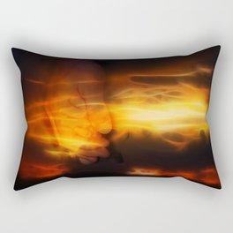 The hand that guides Rectangular Pillow