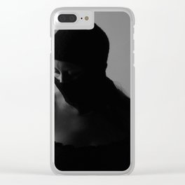 Ski mask Clear iPhone Case