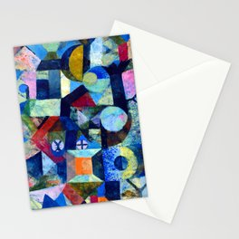 """Paul Klee """"Composition with the Yellow Half-Moon and the Y"""" Stationery Cards"""