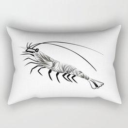 Animal print Shrimp - Garnaal - black and white Rectangular Pillow