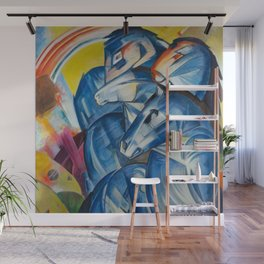 """Franz Marc """"The Tower of Blue Horses"""" Wall Mural"""