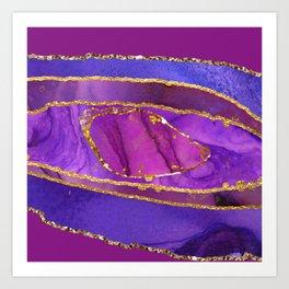 Luxury Purple Agate Art Print