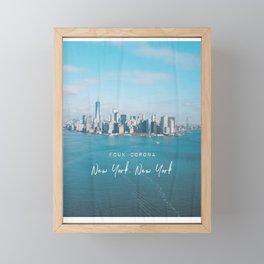 New York FCUK Framed Mini Art Print