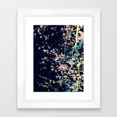 Nature Pattern # 4 - Birch (Blue) Framed Art Print