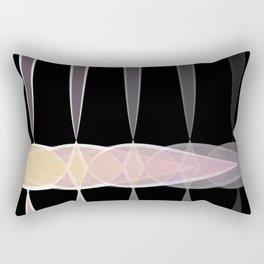 black tear drop Rectangular Pillow
