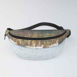 Swans in Autumn Fanny Pack