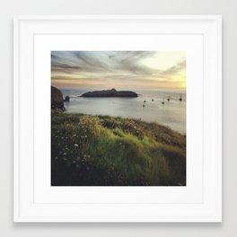 Mullion Cove Sunset Framed Art Print